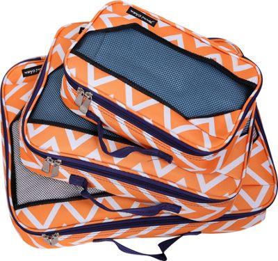 Jenni Chan Aria Madison Packing Cubes 3 Piece Set Orange - Jenni Chan Travel Organizers