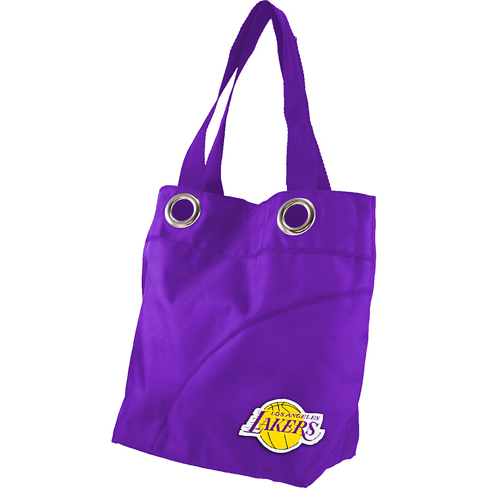 Littlearth Color Sheen Tote - NBA Teams Los Angeles Lakers - Littlearth Fabric Handbags - Handbags, Fabric Handbags