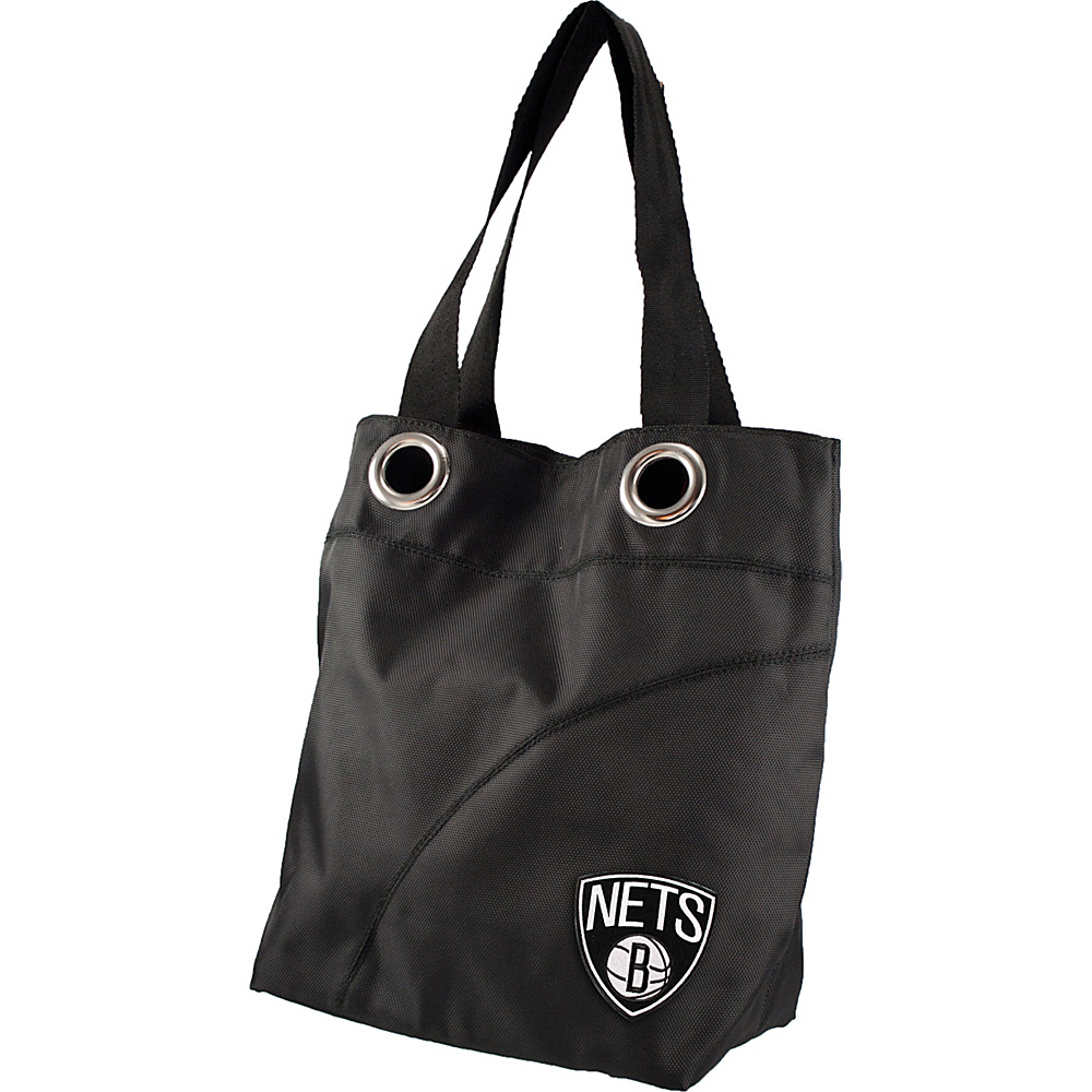 Littlearth Color Sheen Tote - NBA Teams Brooklyn Nets - Littlearth Fabric Handbags - Handbags, Fabric Handbags