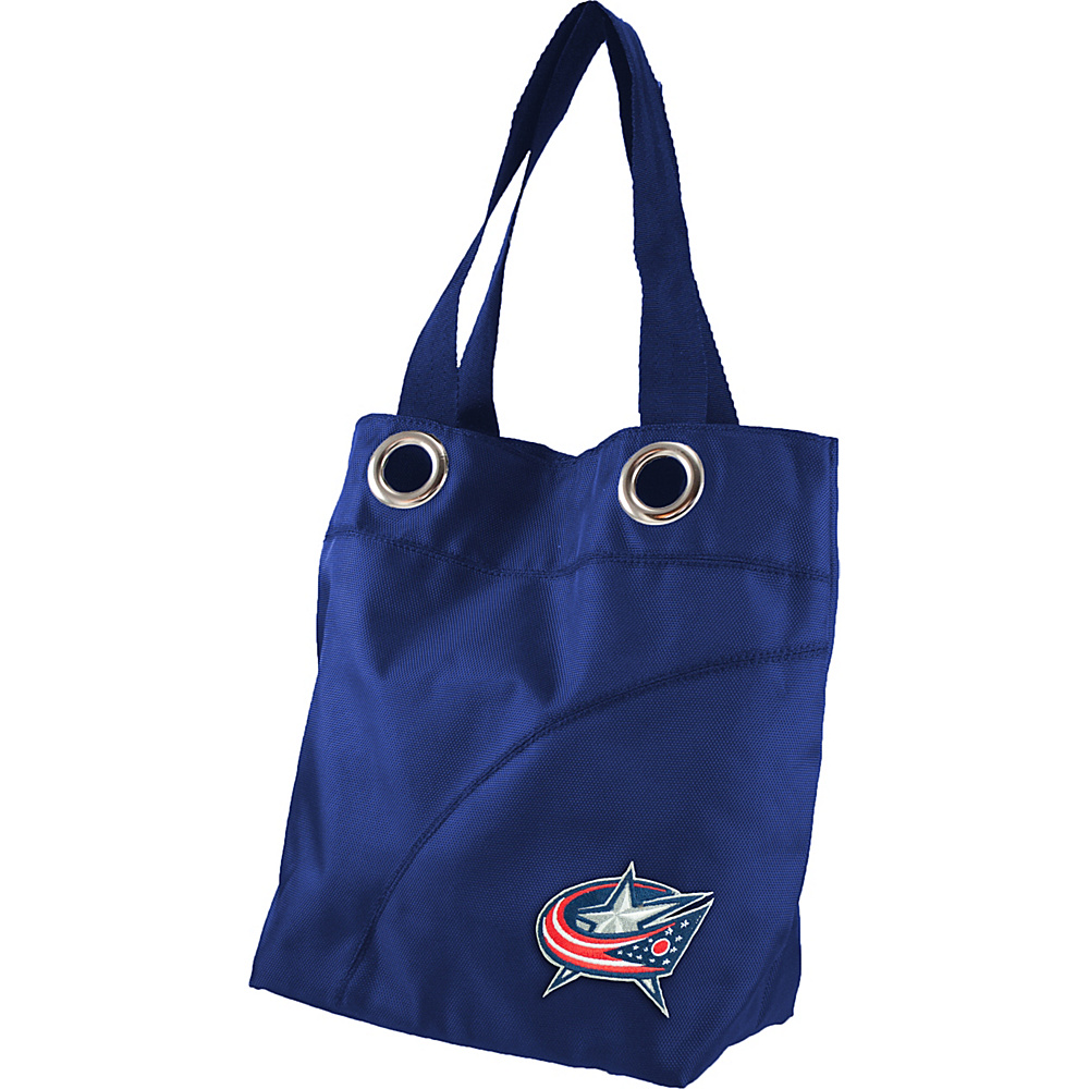 Littlearth Color Sheen Tote - NHL Teams Columbus Blue Jackets - Littlearth Fabric Handbags - Handbags, Fabric Handbags