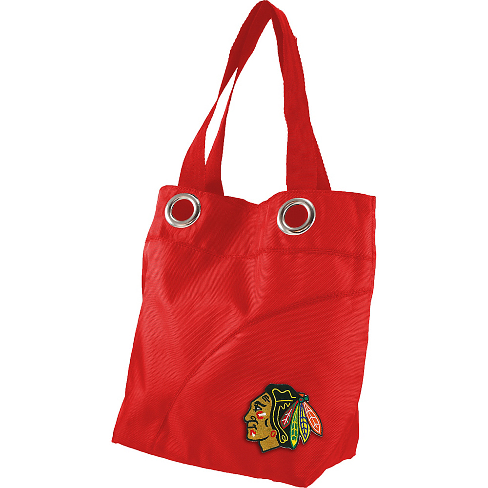 Littlearth Color Sheen Tote - NHL Teams Chicago Blackhawks - Littlearth Fabric Handbags - Handbags, Fabric Handbags