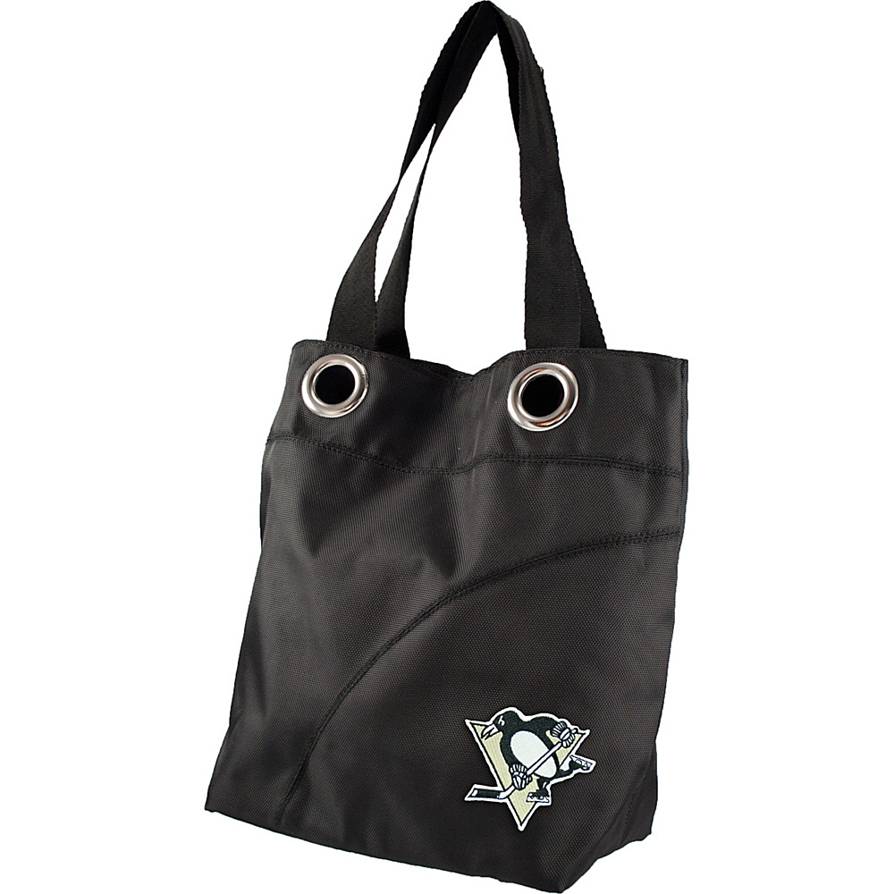 Littlearth Color Sheen Tote - NHL Teams Pittsburgh Penguins - Littlearth Fabric Handbags - Handbags, Fabric Handbags
