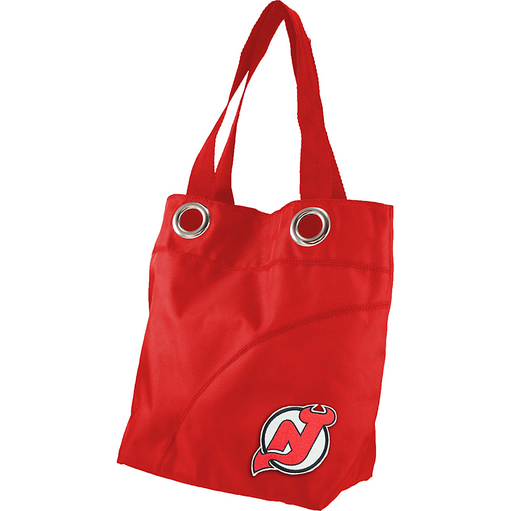 Littlearth Color Sheen Tote - NHL Teams New Jersey Devils - Littlearth Fabric Handbags - Handbags, Fabric Handbags