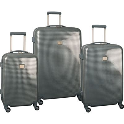 Anne Klein Luggage Manchester 3 Piece Hardside Set Silver/Moon Houndstooth - Anne Klein Luggage Luggage Sets