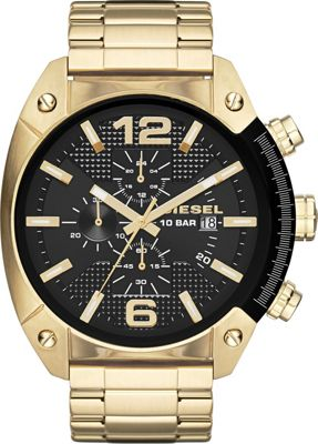 Image of Diesel Watches Overflow Stainless Steel Watch Gold - Diesel Watches Watches