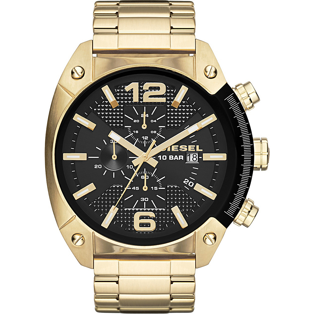 Diesel Watches Overflow Stainless Steel Watch Gold Diesel Watches Watches