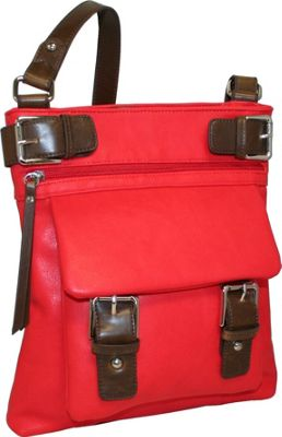 Punto Uno Tailored Tonya Red - Punto Uno Leather Handbags