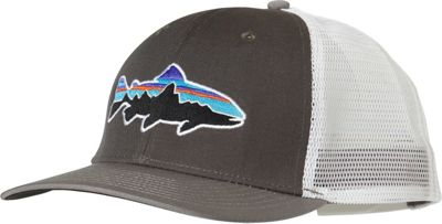 Patagonia Fitz Roy Trout Trucker Hat One Size - Forge Grey w/Feather Grey - Patagonia Hats/Gloves/Scarves