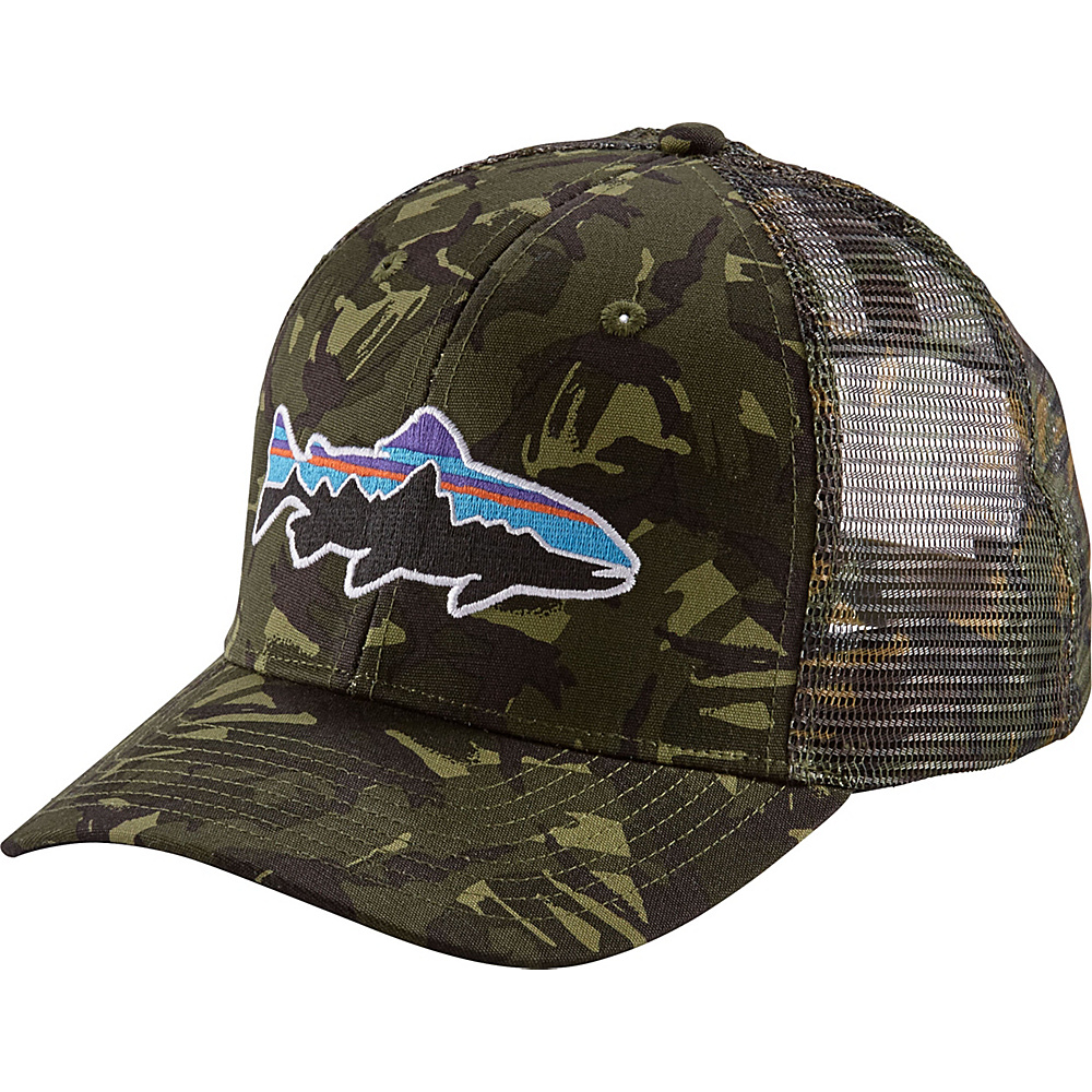 Patagonia Fitz Roy Trout Trucker Hat One Size - Big Camo: Fatigue Green - Patagonia Hats/Gloves/Scarves - Fashion Accessories, Hats/Gloves/Scarves