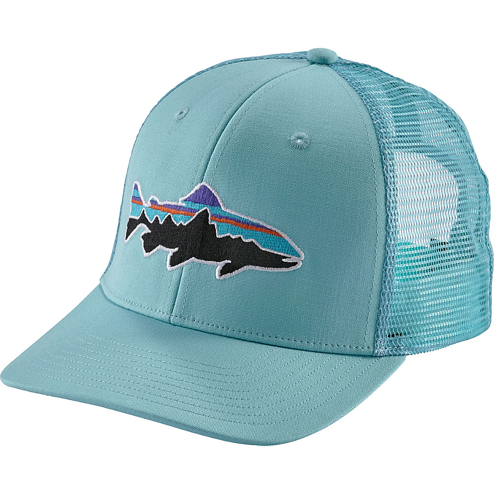 Patagonia Fitz Roy Trout Trucker Hat One Size - Cuban Blue - Patagonia Hats/Gloves/Scarves - Fashion Accessories, Hats/Gloves/Scarves