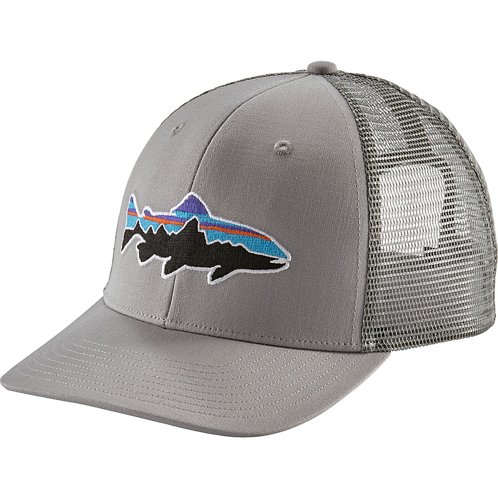 Patagonia Fitz Roy Trout Trucker Hat One Size - Drifter Grey - Patagonia Hats/Gloves/Scarves - Fashion Accessories, Hats/Gloves/Scarves