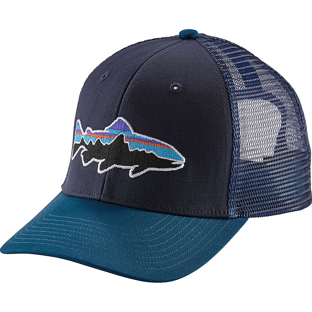 Patagonia Fitz Roy Trout Trucker Hat One Size - Navy Blue - Patagonia Hats/Gloves/Scarves - Fashion Accessories, Hats/Gloves/Scarves
