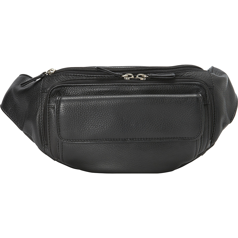 Derek Alexander Three Zippered Compartment Waist Bag Black Derek Alexander Waist Packs