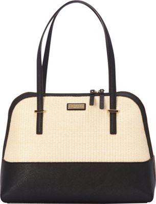 kate spade new york Cedar Street Straw Maise Shoulder Natural/Black - kate spade new york Designer Handbags