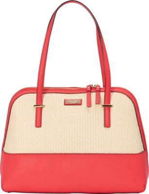 kate spade new york Cedar Street Straw Maise Shoulder Natural/Geranium - kate spade new york Designer Handbags