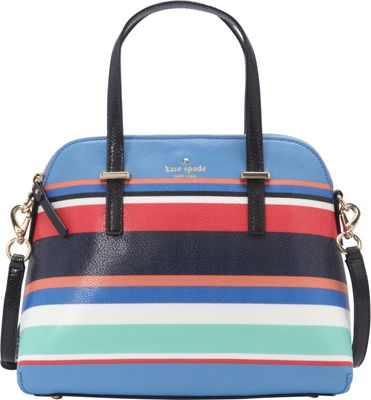 kate spade new york Cedar Street Stripe Maise Satchel Multi Stripe - kate spade new york Designer Handbags