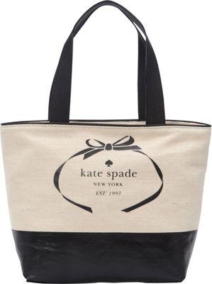 kate spade new york Heritage Spade Logo Summer Tote Natural/Black - kate spade new york Designer Handbags