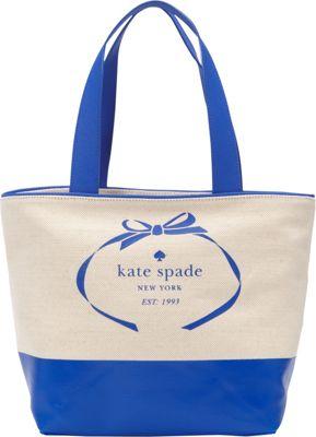 kate spade new york Heritage Spade Logo Summer Tote Natural/Island Deep - kate spade new york Designer Handbags