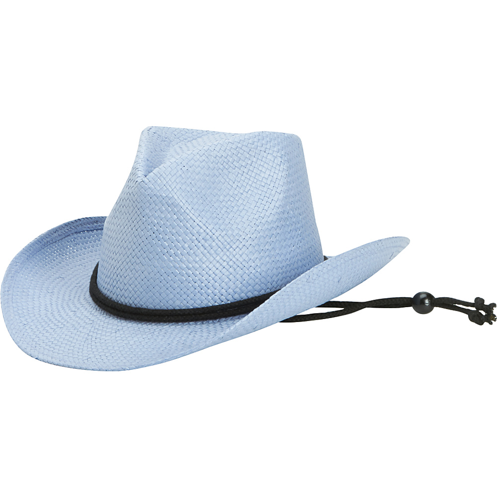 San Diego Hat Kids Woven Paper Cowboy with Chin Cord and Stretch Band Denim San Diego Hat Hats Gloves Scarves