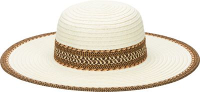 San Diego Hat Ultrabraid Sunbrim Hat with Pattern Band Ivory - San Diego Hat Hats