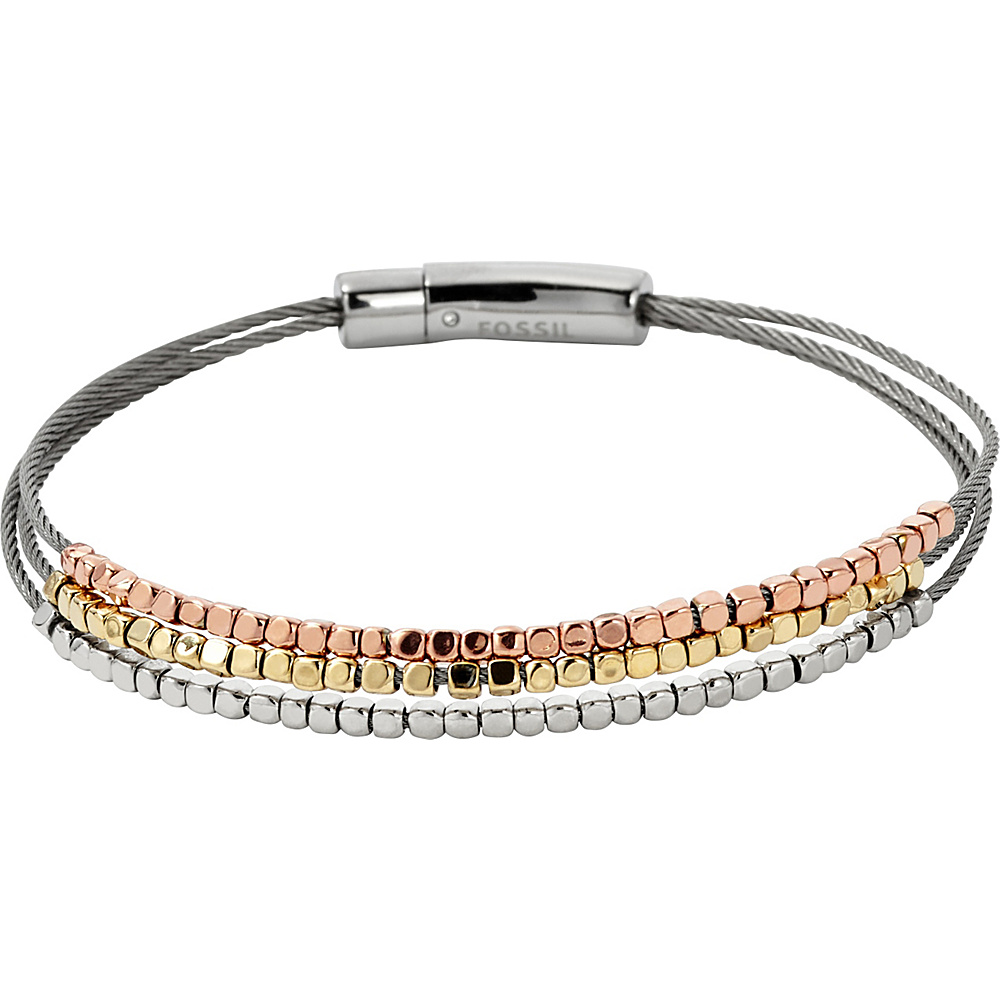 Fossil Nugget Multi Wire Bracelet Silver - Fossil Other Fashion Accessories - Fashion Accessories, Other Fashion Accessories