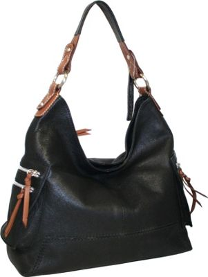 Nino Bossi Ali Baba Hobo Black - Nino Bossi Leather Handbags