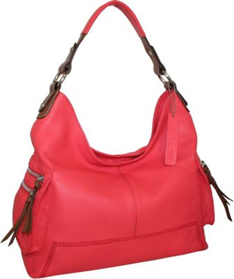 Nino Bossi Ali Baba Hobo Coral - Nino Bossi Leather Handbags