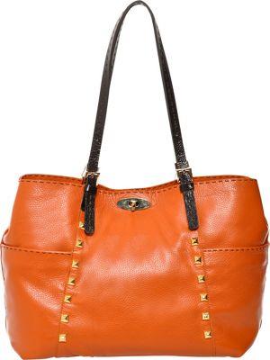 Carla Mancini Andrea Tote Orange - Carla Mancini Designer Handbags
