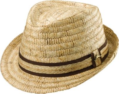 Tommy Bahama Headwear Burned Raffia Fedora XXL - Natural - Tommy Bahama Headwear Hats/Gloves/Scarves