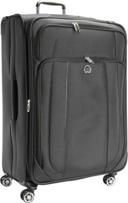 Delsey Helium Cruise 29 inch Exp Suiter Trolley Black - Delsey Softside Checked