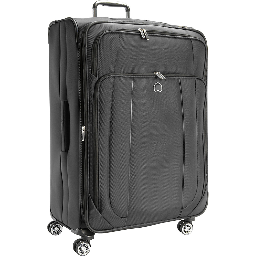 Delsey Helium Cruise 29 Exp Suiter Trolley Black Delsey Softside Checked