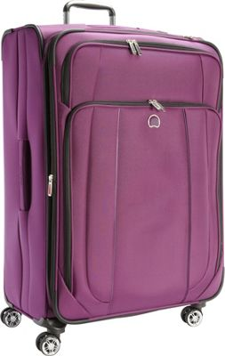Delsey Helium Cruise 29 inch Exp Suiter Trolley Purple - Delsey Softside Checked