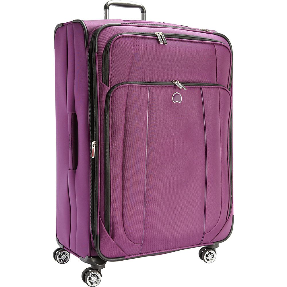 Delsey Helium Cruise 29 Exp Suiter Trolley Purple Delsey Softside Checked
