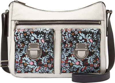 Fossil Riley Hobo Dark Floral - Fossil Leather Handbags