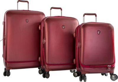 Heys America Portal SmartLuggage 3pc Spinner Set Burgundy - Heys America Hardside Luggage