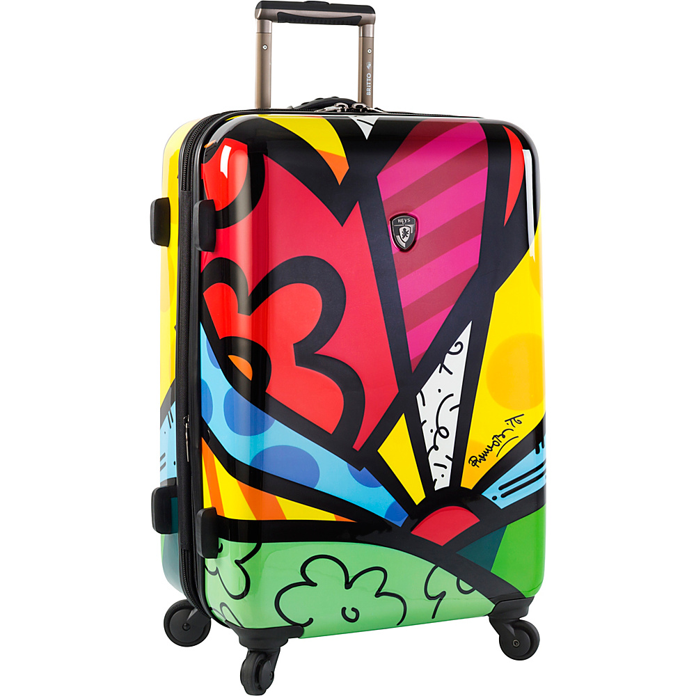 Heys America Britto A New Day 26 Upright Luggage Multi Britto A New Day Heys America Hardside Checked