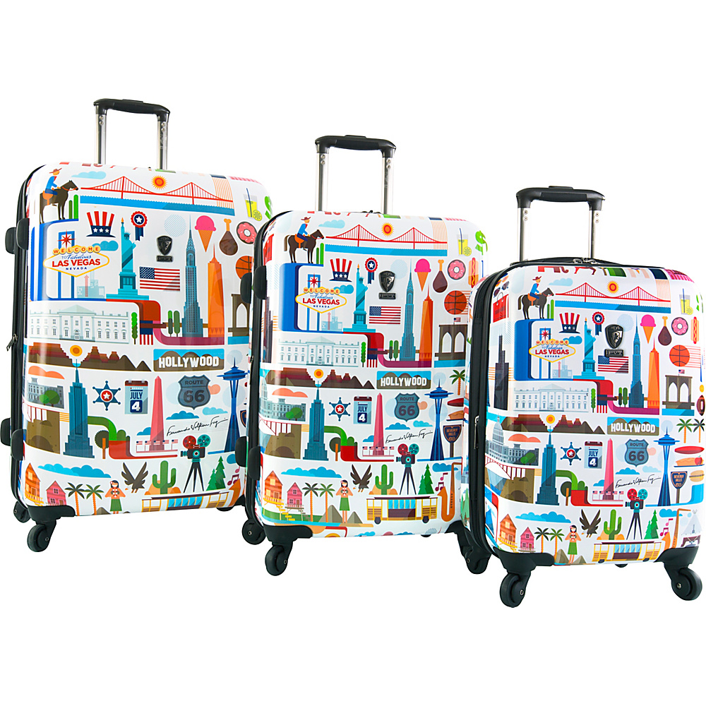 Heys America USA 3pc Spinner Luggage Set USA Heys America Luggage Sets