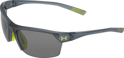 Under Armour Eyewear Zone 2.0 Sunglasses Satin Crystal Gray/Gray Multiflection - Under Armour Eyewear Sunglasses
