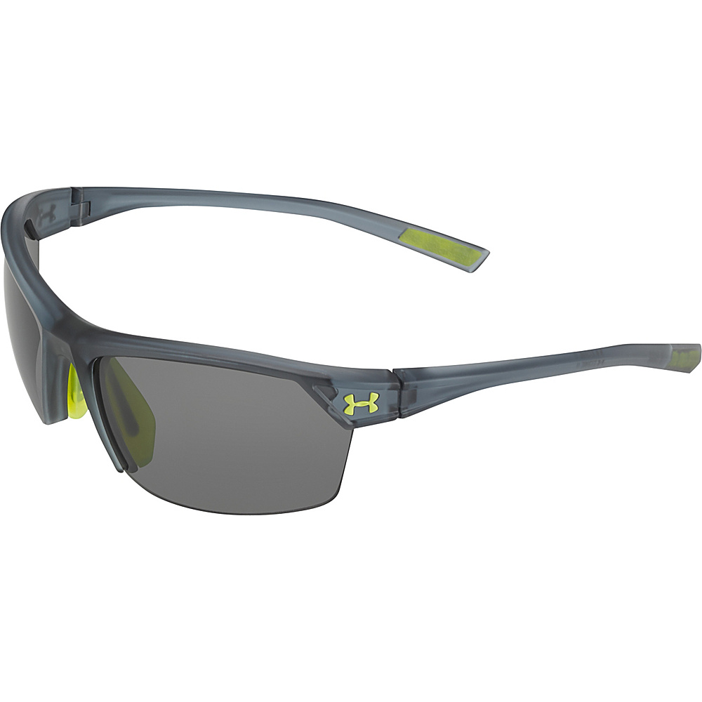 Under Armour Eyewear Zone 2.0 Sunglasses Satin Crystal Gray Gray Multiflection Under Armour Eyewear Sunglasses