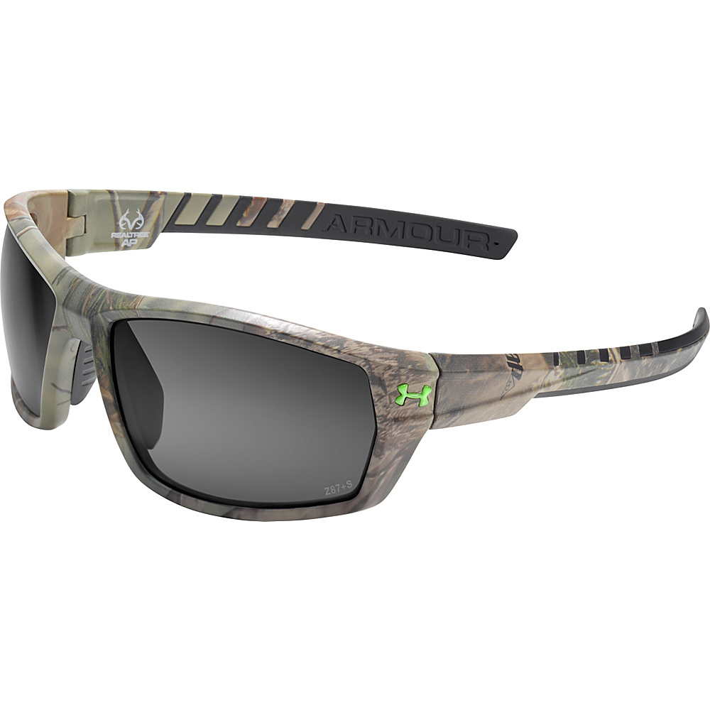 Under Armour Eyewear Ranger Storm Sunglasses Satin Realtree Gray Storm ANSI Polarized Under Armour Eyewear Sunglasses