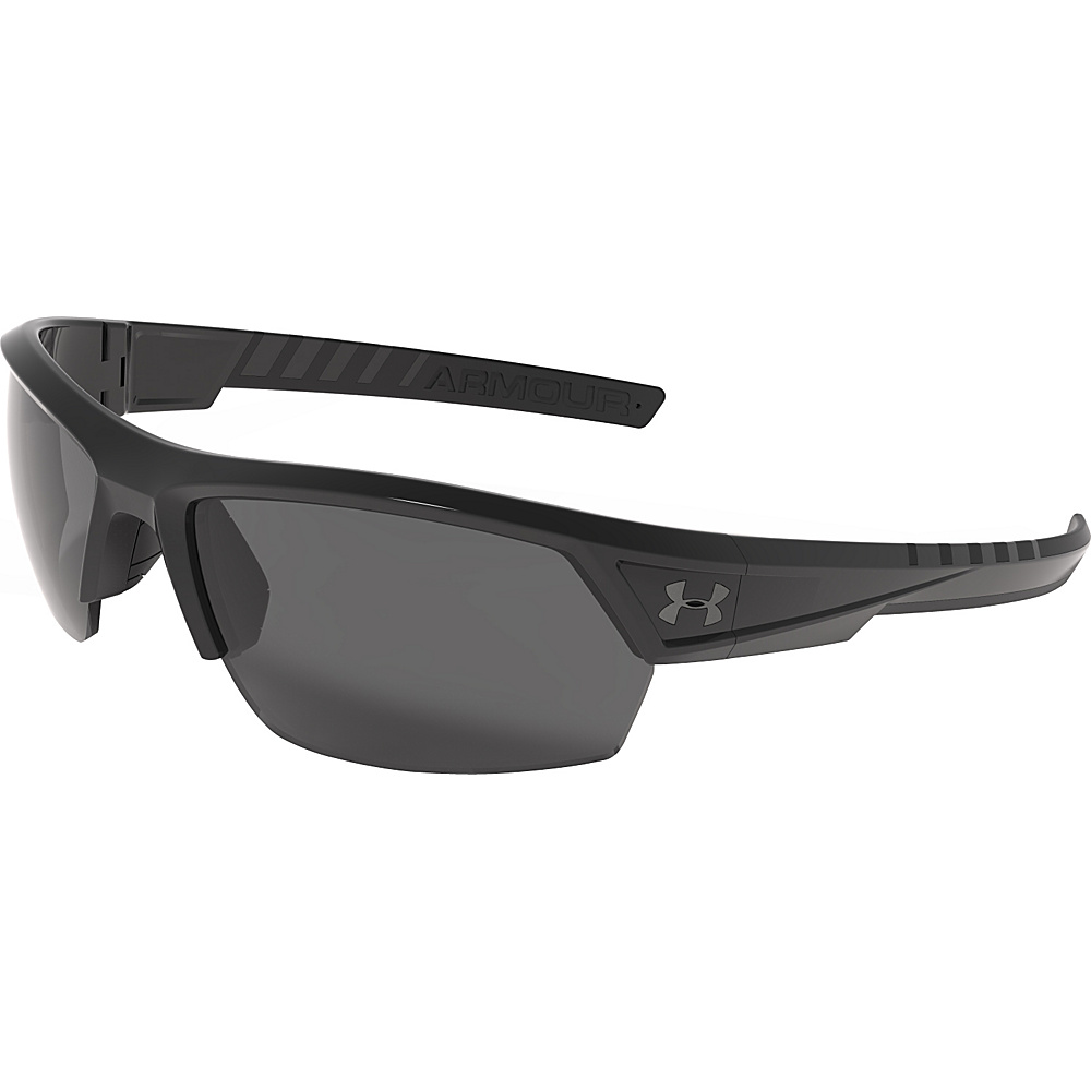 Under Armour Eyewear Igniter 2.0 Storm Sunglasses Satin Black WWP Gray Storm ANSI Polarized Under Armour Eyewear Sunglasses