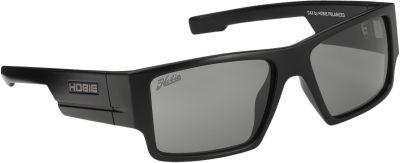Hobie Eyewear Dax Sunglasses Satin Black Frame/Grey/Cobalt Mirror Polarized Len - Hobie Eyewear Sunglasses