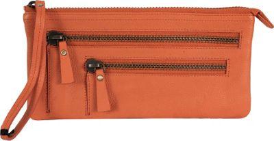 Latico Leathers Campbell Wristlet Orange - Latico Leathers Leather Handbags
