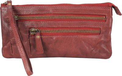 Latico Leathers Campbell Wristlet Crinkle Burgundy - Latico Leathers Leather Handbags