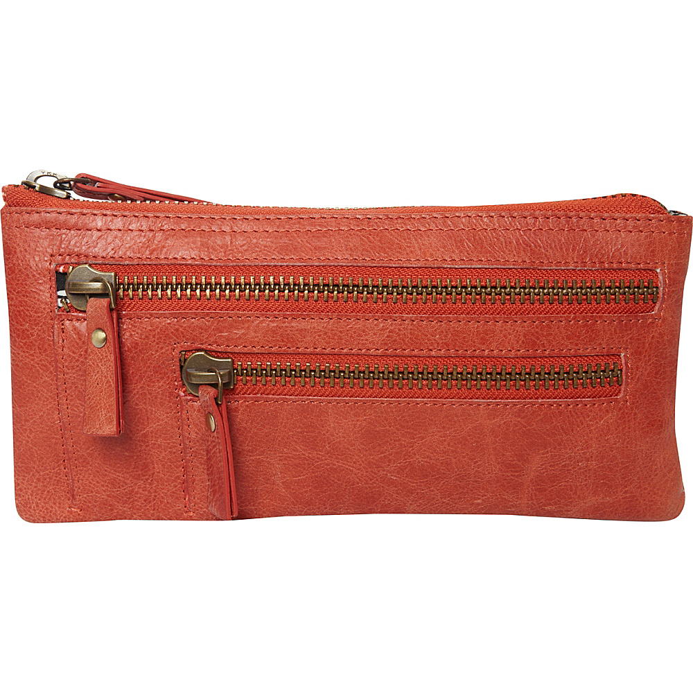 Latico Leathers Campbell Wristlet Vintage Red - Latico Leathers Leather Handbags - Handbags, Leather Handbags