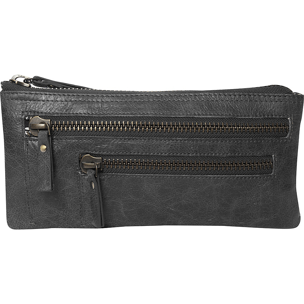 Latico Leathers Campbell Wristlet Washed Black - Latico Leathers Leather Handbags - Handbags, Leather Handbags