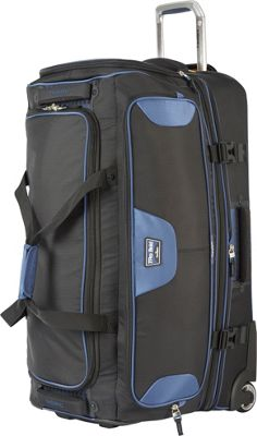 Travelpro T-Pro Bold 2.0 30 inch Rolling Duffle Black & Blue - Travelpro Softside Checked