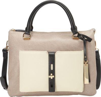 Vince Camuto Darla Satchel - Python Driftwood/Ivory/Graphite - Vince Camuto Designer Handbags