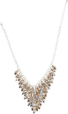 Image of Alexa Starr Bib Necklace Tri Tone - Alexa Starr Jewelry