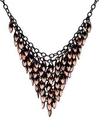 Alexa Starr Bib Necklace Bronze - Alexa Starr Jewelry